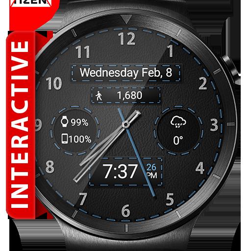Black Leather HD WatchFace Widget & Live Wallpaper