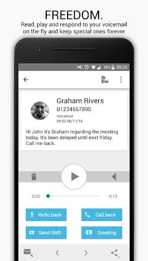 Hullomail - Visual Voicemail, Greetings & Text screenshots 2