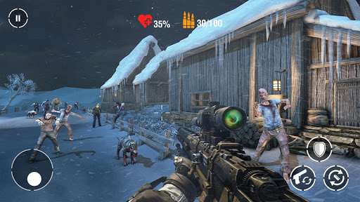 call of sniper zombie: ww2 frontier shooting game screenshot 1