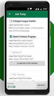 Tennis League Network App