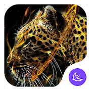 Fire Leopard Wolf--APUS Launcher fashion theme