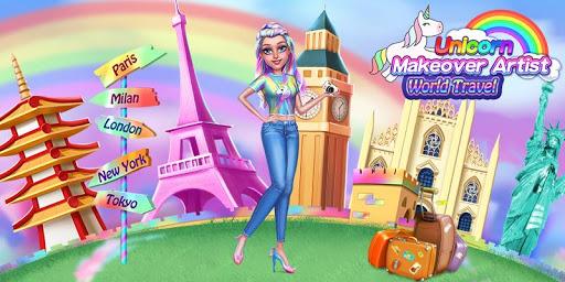 Unicorn Makeover Artist: World Travel  Screenshots 1