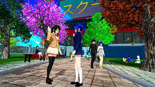 Anime High School Life Days Yandere Girl Simulator screenshots 1