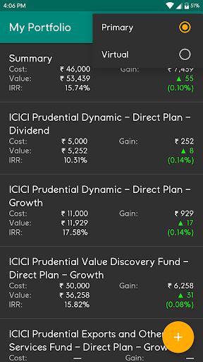 My Portfolio - India (Track Mutual Funds, PPF etc) screenshots 2