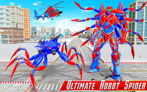 Spider Robot Car Game u2013 Robot Transforming Games android2mod screenshots 7