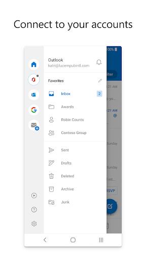 Microsoft Outlook: Secure email, calendars & files 4.2105.3 screenshots 4