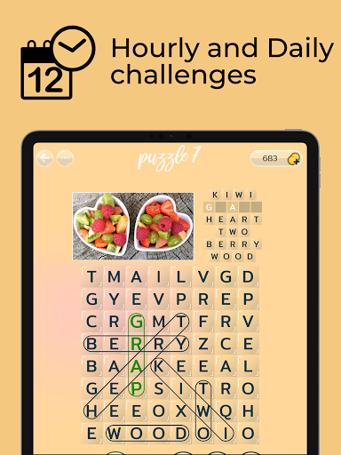 Word Search Puzzles with Pics - Free word game 0.9.7 screenshots 9