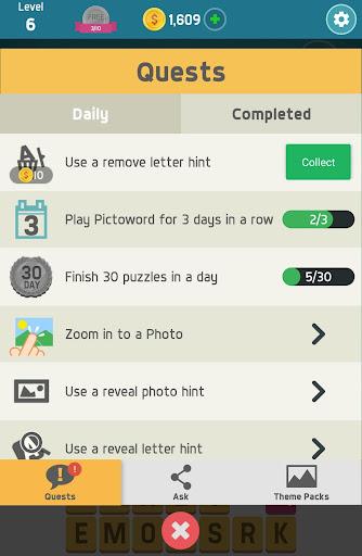 Pictoword: Fun Word Games & Offline Brain Game 1.10.14 Screenshots 12