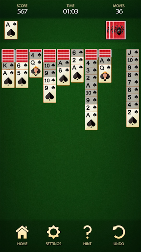 Spider Solitaire - Free Card Game 2.8 screenshots 6