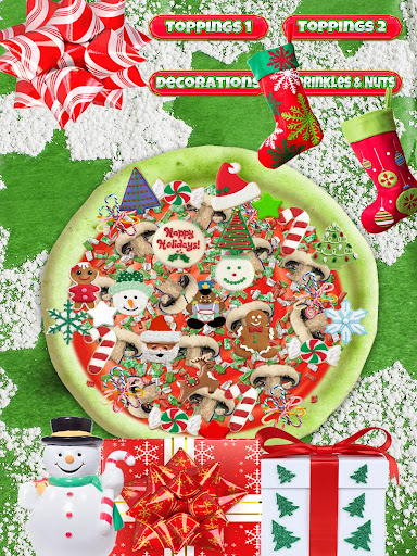 Christmas Candy Pizza Maker Fun Food Cooking Game  screenshots 7