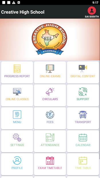 Creative School Parent App screenshot 1