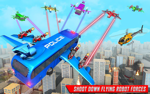 Flying Bus Robot Transform War- Police Robot Games 1.15 screenshots 7
