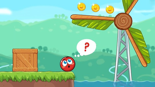 Red Bounce Ball Heroes 3