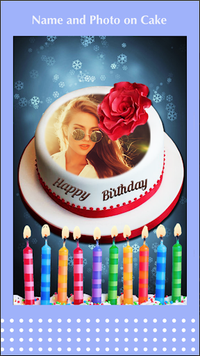 Birthday cake with name and photo - Birthday Song android2mod screenshots 3