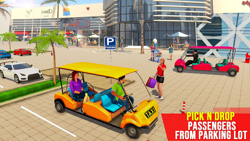 Shopping Mall Radio Taxi: Car Driving Taxi Games  screenshots 1