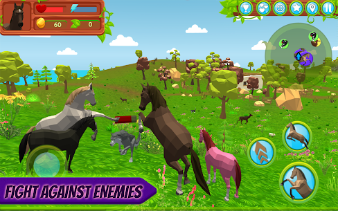 Horse Family – Animal Simulator 3D MOD (Gold Coins/Food) 2