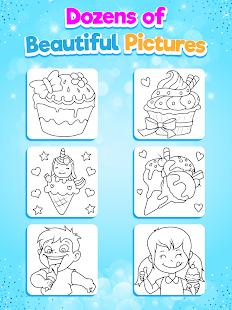 Glitter Ice Cream Coloring 5.4 Screenshots 20