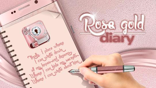 Cute Rose Gold Diary App 4.0 (MOD + APK) Download 1