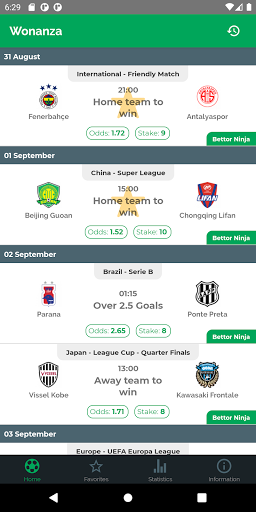 wonanza - sports betting tips by best tipsters! screenshot 1