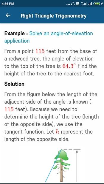 Captura de Pantalla 3 de Trigonometry Mathematics para android