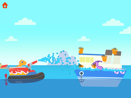 Dinosaur Patrol Boat - Coast Guard Games for kids apkmr screenshots 16