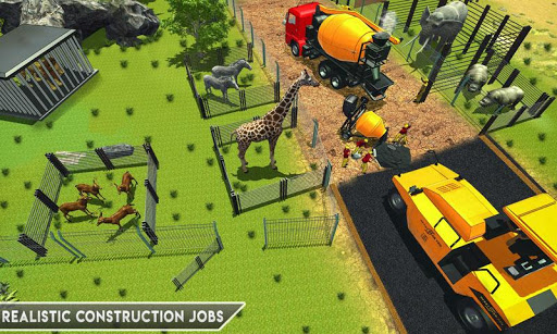 Simulateur De Construction De Zoo Animalier APK MOD – ressources Illimitées (Astuce) screenshots hack proof 1
