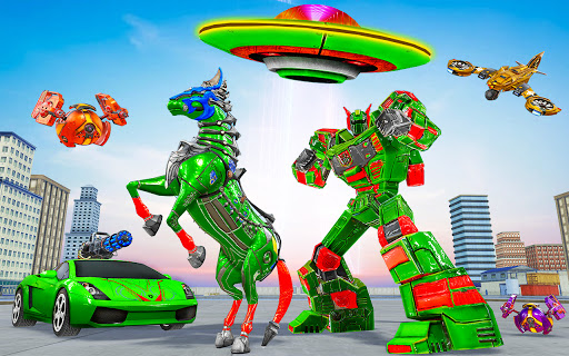 Horse Robot Car Game u2013 Space Robot Transform Wars  screenshots 9