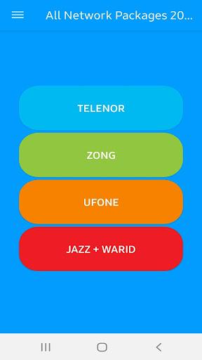 All Network Packages Pakistan 2021 Zong Jazz Ufone 2.9 screenshots 1