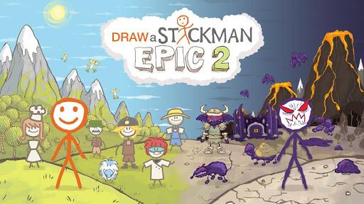 Draw a Stickman: EPIC 2 modiapk screenshots 1