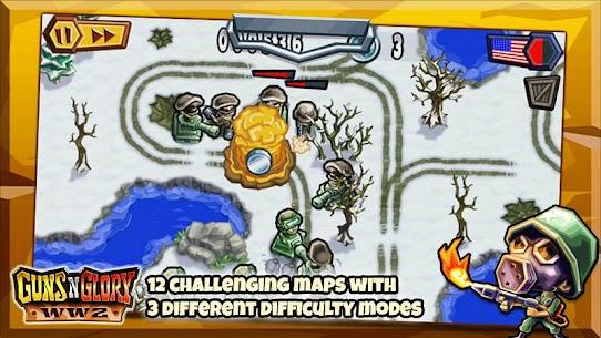 تحميل لعبة Guns'n'Glory WW2 مهكرة اخر اصدار Mod 3