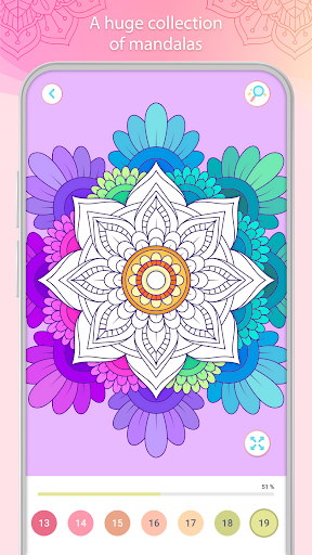 Color by Number u2013 Mandala Book 2.2.1 screenshots 2