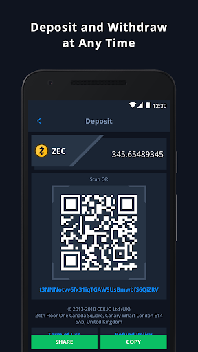 CEX.IO Cryptocurrency Exchange - Buy Bitcoin (BTC)  Screenshots 4