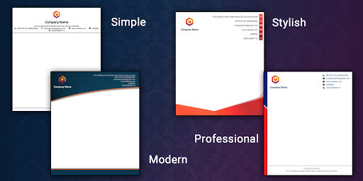 Letterhead Maker Business letter pad template Logo 1.7 Screenshots 2