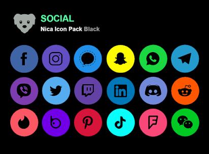 Nica Icon Pack Black MOD APK 1.0.8 6