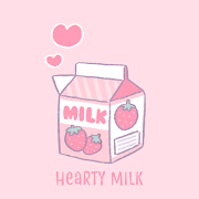 Cute Wallpaper Hearty Milk Theme