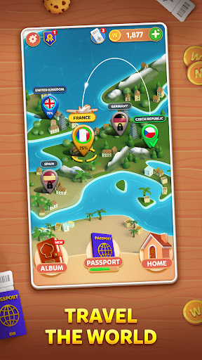 Wordelicious: Food & Travel - Word Puzzle Game 1.0.3 screenshots 1