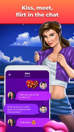Spin the bottle and kiss, date sim - Kiss Cruise Apkfinish screenshots 4