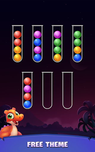 Color Ball Sort Puzzle - Dino Bubble Sorting Game  screenshots 18