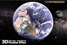 Earth & Moon in HD Gyro 3D Parallax Live Wallpaperのおすすめ画像1