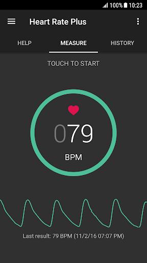 Heart Rate Plus - Pulse & Heart Rate Monitor 2.5.9 Screenshots 1