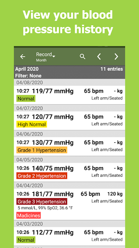 Blood Pressure Tracker android2mod screenshots 6
