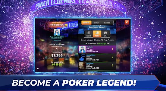 Poker Legends: Free Texas Holdem Poker Tournaments 5