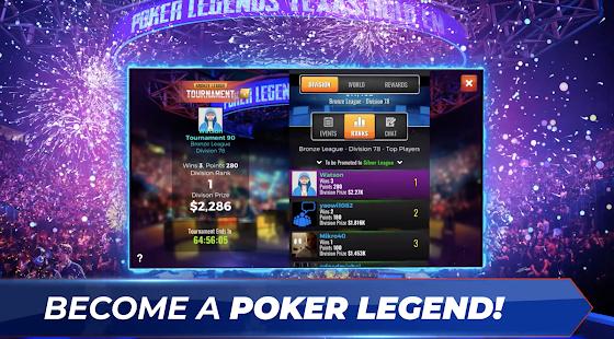 Poker Legends: Free Texas Holdem Poker Tournaments 0.3.00 Screenshots 5