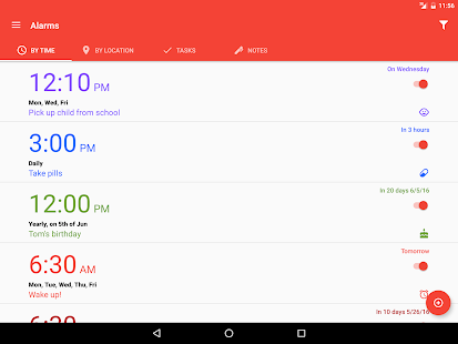 Alarms: Notes & Task List