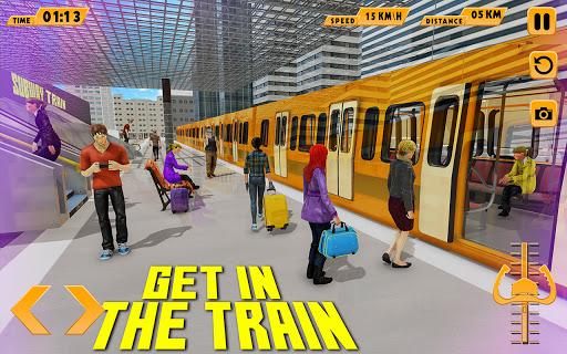 Modern Train Driving Simulator: City Train Games  screenshots 11