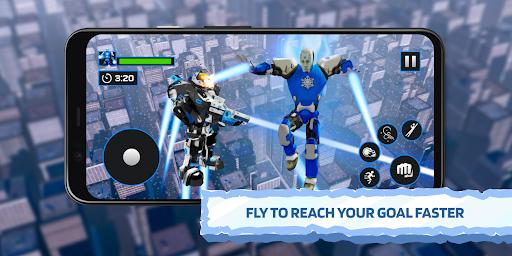 Ice Superhero Flying Robot - Fighting Games  Pc-softi 2