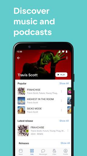 VK u2014 live chatting & free calls android2mod screenshots 2