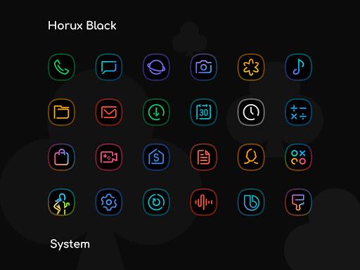 Download APK: Horux Black – Icon Pack v4.2 [Patched]