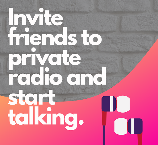 fraydio - group voice chat rooms, private radio screenshot 2