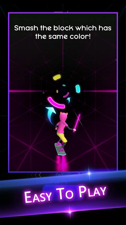 Cyber Surfer: EDM & Skateboard & Coloring Game  poster 2